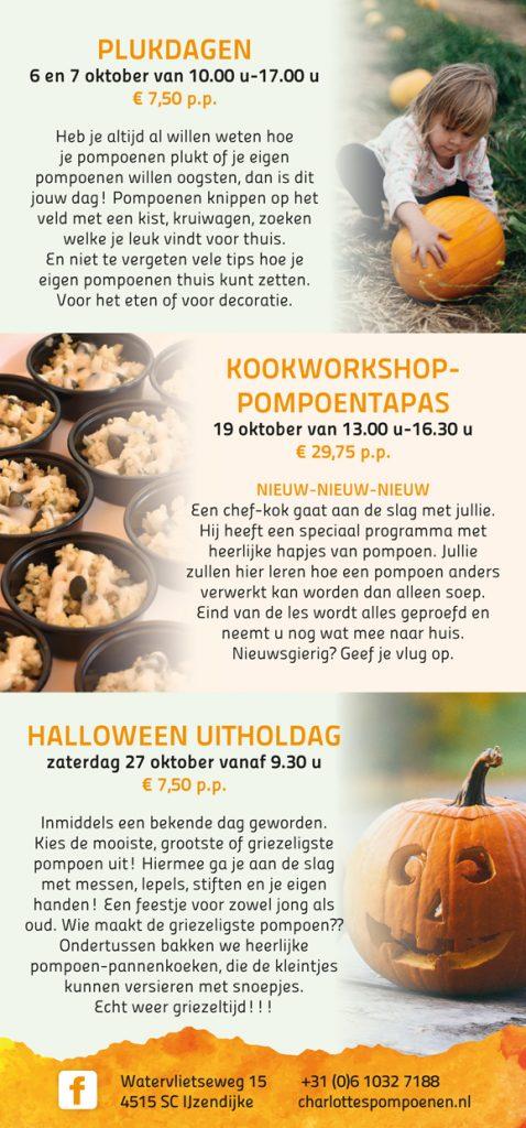 Welke Dag Halloween.Pompoenfestijn Charlottes Pompoenen